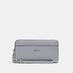 ACCORDION ZIP WALLET WITH WRISTLET STRAP - SV/GRANITE - COACH 6643