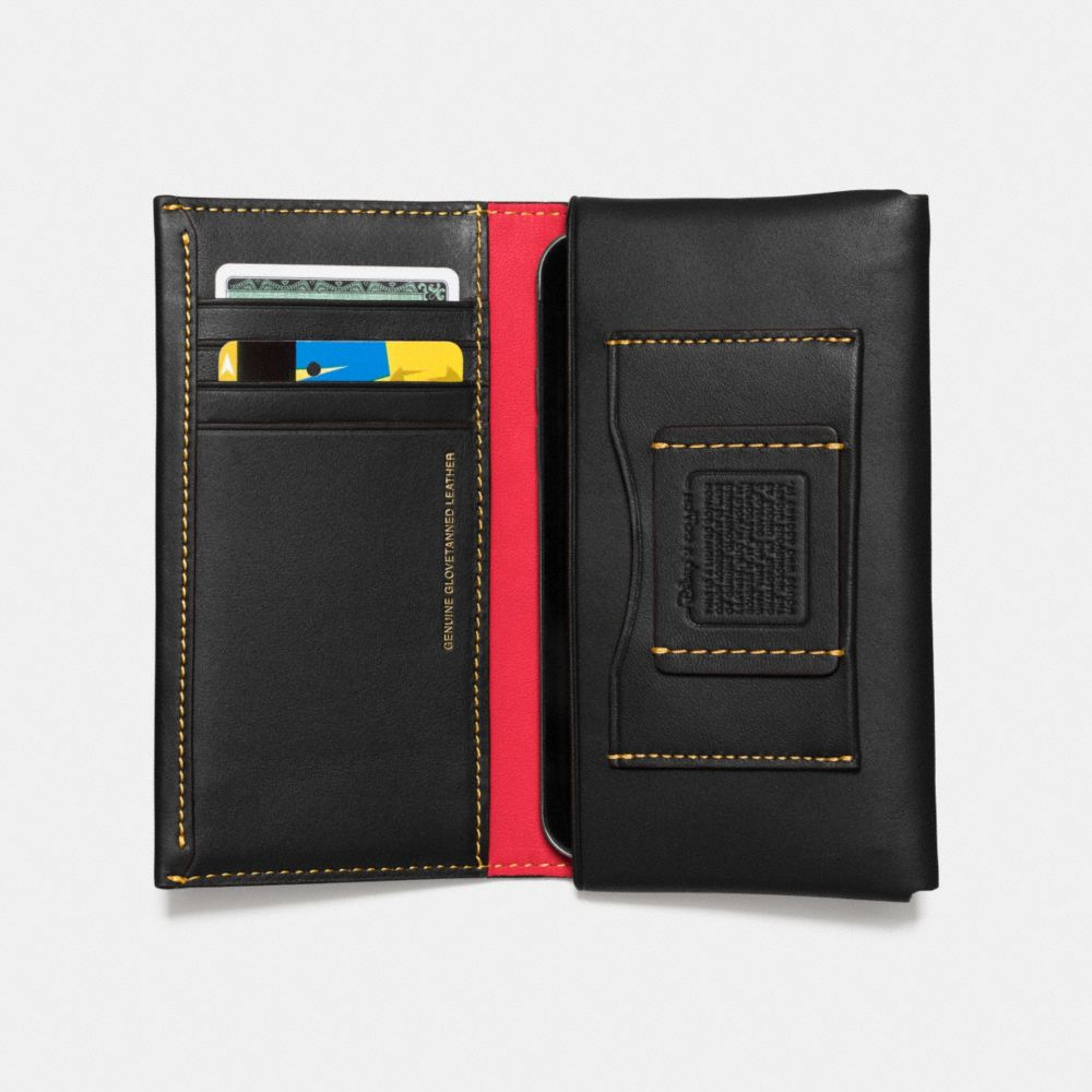 MICKEY PHONE WALLET IN GLOVETANNED LEATHER - Alternate View A2