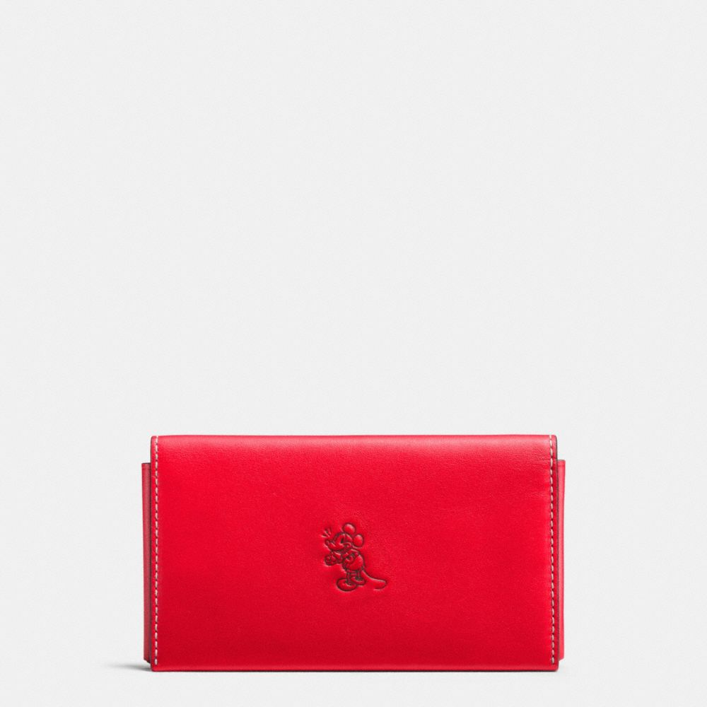 MICKEY PHONE WALLET IN GLOVETANNED LEATHER - Alternate View