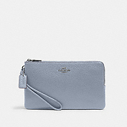 DOUBLE ZIP WALLET - SV/MIST - COACH 6644
