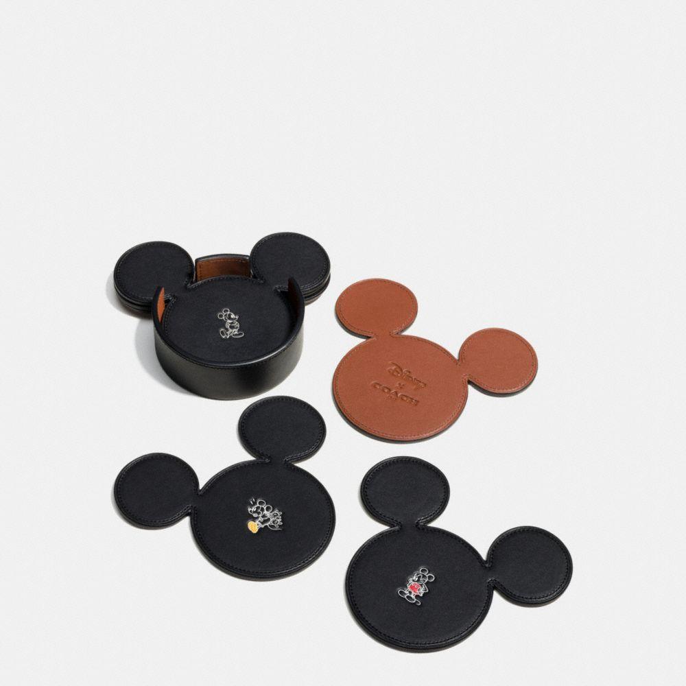 Coach Mickey Coaster Set