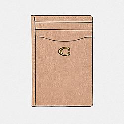 CARD HOLDER - BEECHWOOD/BRASS - COACH 66612
