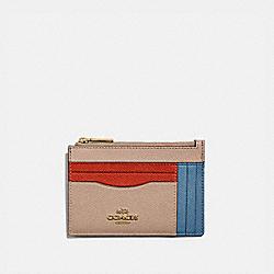 LARGE CARD CASE IN COLORBLOCK - B4/LAKE MULTI - COACH 66712
