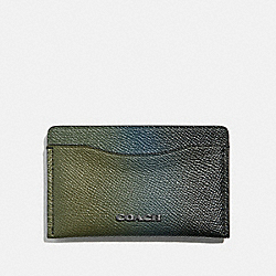 SMALL CARD CASE - OLIVE/NAVY - COACH 66837
