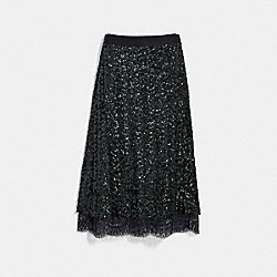 SEQUIN SKIRT - GREEN - COACH 67642