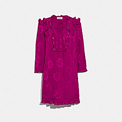 RUFFLE DRESS - FUSCHIA - COACH 67648