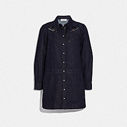 DENIM DRESS - DENIM - COACH 67705