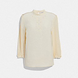 EMBROIDERED TOP - CREAM - COACH 67712
