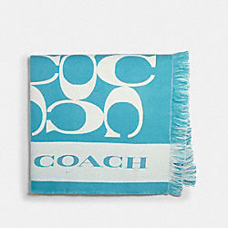 SIGNATURE BLANKET - AQUA - COACH 677