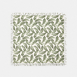 BANANA LEAVES PRINT OVERSIZED SQUARE SCARF - CARGO GREEN/CHALK - COACH 678