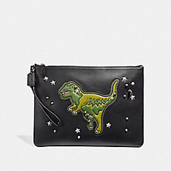 POUCH 30 WITH REXY - BLACK - COACH 67912