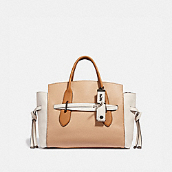 SHADOW CARRYALL IN COLORBLOCK - BEECHWOOD/PEWTER - COACH 68005