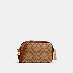 JES CROSSBODY IN SIGNATURE CANVAS - IM/KHAKI SADDLE 2 - COACH 68168