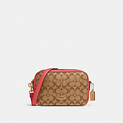 JES CROSSBODY IN SIGNATURE CANVAS - IM/KHAKI POPPY - COACH 68168