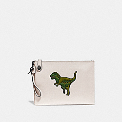 TURNLOCK POUCH WITH REXY - CHALK - COACH 68248