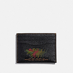 CARD CASE WITH REXY - BLACK - COACH 68255