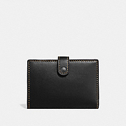 SMALL BIFOLD WALLET - PEWTER/BLACK - COACH 68314