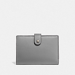SMALL BIFOLD WALLET - PEWTER/HEATHER GREY - COACH 68314