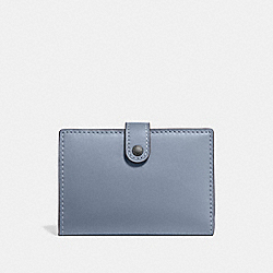 SMALL BIFOLD WALLET - PEWTER/MIST - COACH 68314