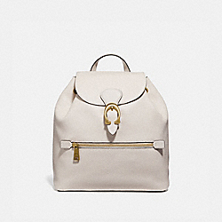 EVIE BACKPACK - CHALK/BRASS - COACH 68380