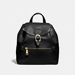EVIE BACKPACK 22 - BLACK/BRASS - COACH 68555