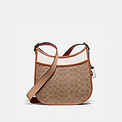 EMERY CROSSBODY IN COLORBLOCK SIGNATURE CANVAS - V5/TAN CHALK MULTI - COACH 686