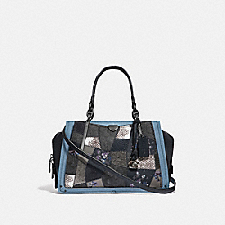 DREAMER WITH SIGNATURE PATCHWORK - CHARCOAL SLATE MULTI/PEWTER - COACH 68882