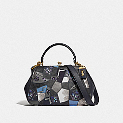 FRAME BAG WITH SIGNATURE PATCHWORK - V5/CHARCOAL SLATE MULTI - COACH 68889