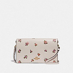 HAYDEN FOLDOVER CROSSBODY WITH MINI VINTAGE ROSE PRINT - CHALK MINI VINTAGE ROSE/GOLD - COACH 69073