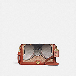 DISNEY X COACH SIGNATURE RILEY WITH EMBELLISHED DUMBO - TAN/RUST/BRASS - COACH 69135