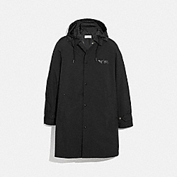 REXY AND CARRIAGE COAT WITH HOOD - BLACK - COACH 69160