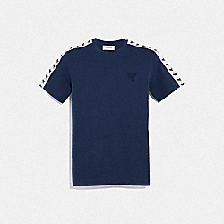REXY TAPE T-SHIRT - DARK BLUE - COACH 69175