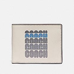 SLIM BILLFOLD WALLET WITH COACH PRINT - CHALK - COACH 69217