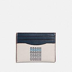 CARD CASE WITH COACH PRINT - CHALK - COACH 69219
