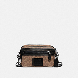 ACADEMY CROSSBODY IN SIGNATURE CANVAS - KHAKI/BLACK COPPER - COACH 69333