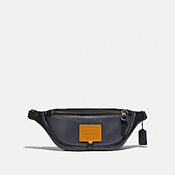 RIVINGTON BELT BAG IN COLORBLOCK - MIDNIGHT NAVY/BLACK COPPER - COACH 69344