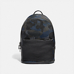 METROPOLITAN SOFT BACKPACK WITH WILD BEAST PRINT - BLUE WILD BEAST/BLACK COPPER - COACH 69353