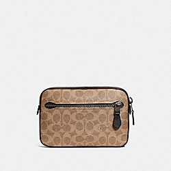 METROPOLITAN SOFT BELT BAG IN SIGNATURE CANVAS - KHAKI/BLACK COPPER - COACH 69355