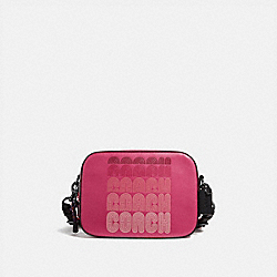 CAMERA BAG WITH COACH PRINT - BRIGHT CHERRY MULTI/GUNMETAL - COACH 69411
