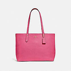 CENTRAL TOTE WITH ZIP - B4/CONFETTI PINK - COACH 69424