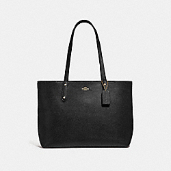 CENTRAL TOTE WITH ZIP - GD/BLACK - COACH 69424