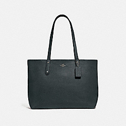 CENTRAL TOTE WITH ZIP - V5/PINE GREEN - COACH 69424