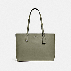 CENTRAL TOTE WITH ZIP - V5/LIGHT FERN - COACH 69424