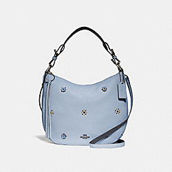 SUTTON HOBO WITH SCATTERED RIVETS - PEWTER/MIST - COACH 69507