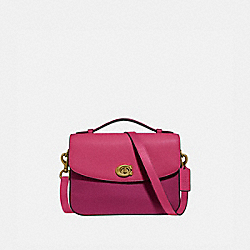 CASSIE CROSSBODY IN COLORBLOCK - BRIGHT CHERRY MULTI/BRASS - COACH 69524