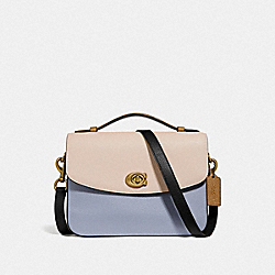 CASSIE CROSSBODY IN COLORBLOCK - BRASS/MIST STRAW MULTI - COACH 69524