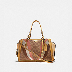 DREAMER IN SIGNATURE CANVAS WITH WAVE PATCHWORK - B4/TAN MULTI - COACH 69527
