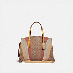 CHARLIE CARRYALL IN SIGNATURE CANVAS WITH WAVE PATCHWORK - B4/TAN MULTI - COACH 69529