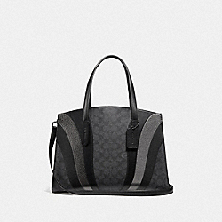CHARLIE CARRYALL IN SIGNATURE CANVAS WITH WAVE PATCHWORK - CHARCOAL/MULTI/PEWTER - COACH 69529