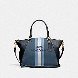 PRAIRIE SATCHEL WITH HORSE AND CARRIAGE - GD/BLUE MIDNIGHT NAVY - COACH 69646